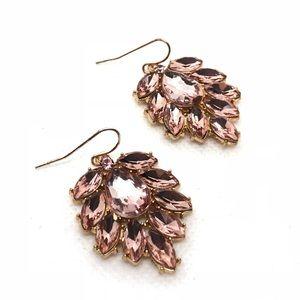 Jewelry - 🆕Rosey Pink Rhinestone Earrings